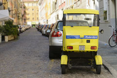 Italian postal workers vehicle Stock Photography