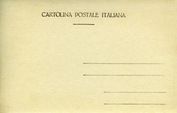 Italian Postcard. Back of vintage blank postcard stock photography