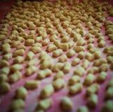 Italian potato gnocchi home made stock photos