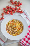 Italian Potato and Pasta Soup Stock Images