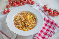 Italian Potato and Pasta Soup Royalty Free Stock Image