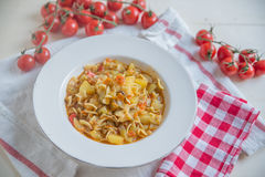 Italian Potato and Pasta Soup Stock Photography