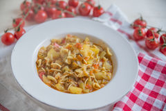 Italian Potato and Pasta Soup Stock Photos