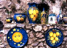 Italian pottery, Ravello. Royalty Free Stock Images
