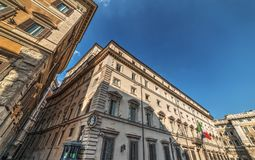 Italian Prime minister official residence. Palazzo Chigi in Rome, Italy royalty free stock photos