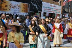 Italian procession event Royalty Free Stock Photography
