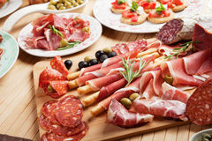 Italian prosciutto Stock Photos
