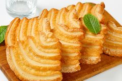 Italian puff pastry cookies Stock Image