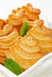 Italian puff pastry cookies Royalty Free Stock Photos