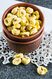 Italian ravioli in jar Royalty Free Stock Photos