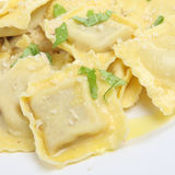 Italian Ravioli Pasta Meal Stock Photography
