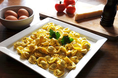Italian ravioli with ricotta and vegetables Royalty Free Stock Image