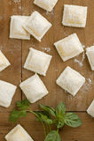 Italian ravioli table Royalty Free Stock Photo