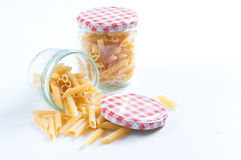 Italian raw pasta Stock Image