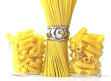 Italian raw pasta Royalty Free Stock Images