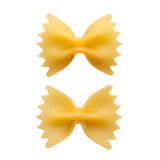 Italian raw pasta farfalle, bow tie, butterfly, close up Royalty Free Stock Images