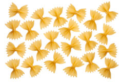 Italian raw pasta farfalle, bow tie, butterfly Royalty Free Stock Image