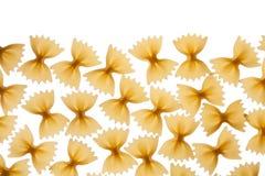 Italian raw pasta farfalle, bow tie, butterfly Stock Photos