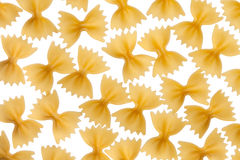 Italian raw pasta farfalle, bow tie, butterfly Royalty Free Stock Photography