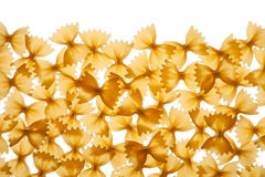 Italian raw pasta farfalle, bow tie, butterfly Stock Image