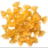 Italian raw pasta farfalle, bow tie, butterfly Royalty Free Stock Photo