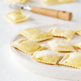 Italian raw ravioli Stock Images