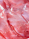 Italian raw smoked meat slices- bresaola. Stock Image