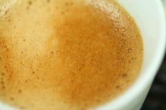 Italian real espresso macro Royalty Free Stock Image