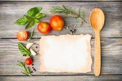 Italian recipe Royalty Free Stock Photo
