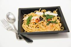 Italian recipe: spaghetti and seafood Stock Photo