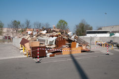 Italian Recycling center (Raee) Royalty Free Stock Images