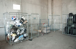 Italian Recycling center (Raee) Royalty Free Stock Photos