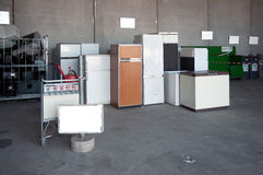 Italian Recycling center (Raee) Stock Image