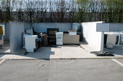 Italian Recycling center (Raee) Stock Photography