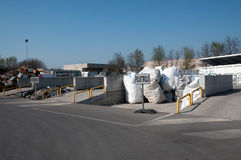 Italian Recycling center (Raee) Royalty Free Stock Photo