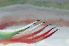 Italian red arrows Stock Photos