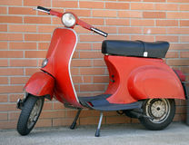 Italian red vespa scooter Stock Image