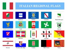 Italian regional flags Royalty Free Stock Image
