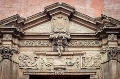 Italian renaissance door frame Royalty Free Stock Image