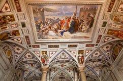 Italian Renaissance fresco on the arched ceiling Stock Photos