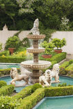 Italian Renaissance Garden Fountain. Hamilton Gardens, New Zealand Royalty Free Stock Photo