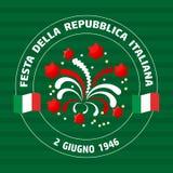 Italian Republic Holiday. Vector illustration Stock Photography