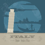 Italian Republic landmarks. Retro styled image Stock Photo