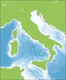 Italian Republic map Stock Images