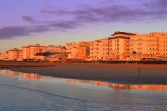 Italian resort sunrise Royalty Free Stock Photo