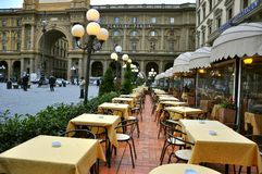 Italian restaurant in Florence , Italy  Royalty Free Stock Photos