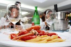 Italian Restaurant. A dinner in an italian restaurant Stock Photo