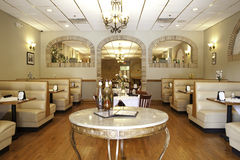 Italian Restaurant Interior - Front Dining Room Royalty Free Stock Photography