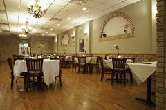 Italian Restaurant Interior - Main Dining Room Royalty Free Stock Photography