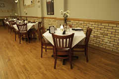 Italian Restaurant Interior - Main Dining Room Royalty Free Stock Photos